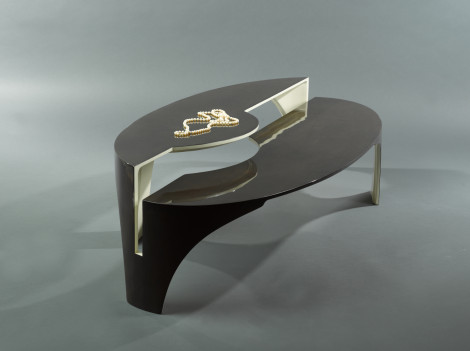 modern lacquered coffee table by paul rene furniture and cabinets phoenix scottsdale az