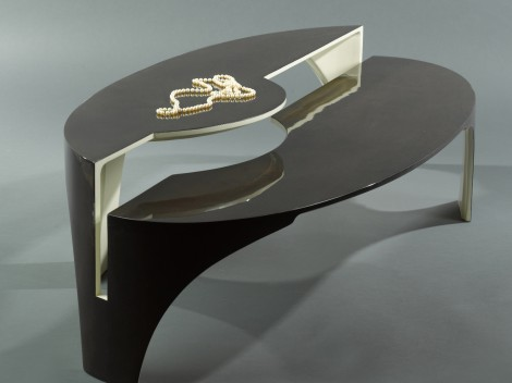confluence coffee table by paul rene furniture phoenix az