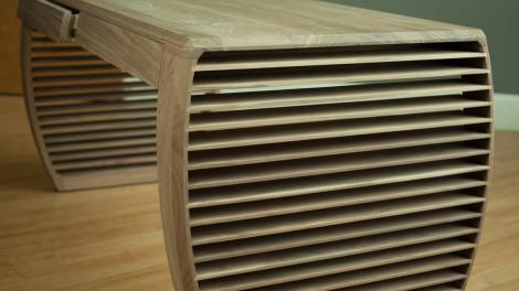contemporary writing desk walnut by designer paul jeffrey