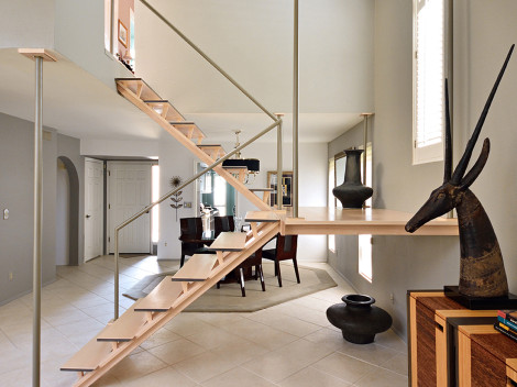 custom modern stairways by paul rene furniture and cabinets phoenix scottsdale az