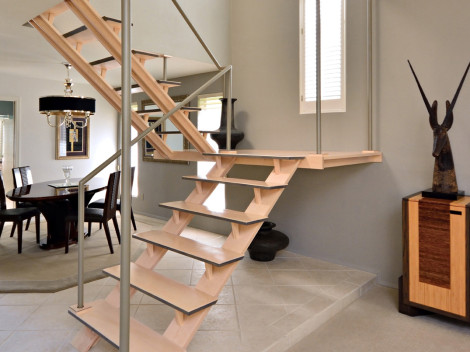 modern custom wood staircases by designer paul jeffrey ofpaul rene furniture and cabinetry phoenix scottsdale az