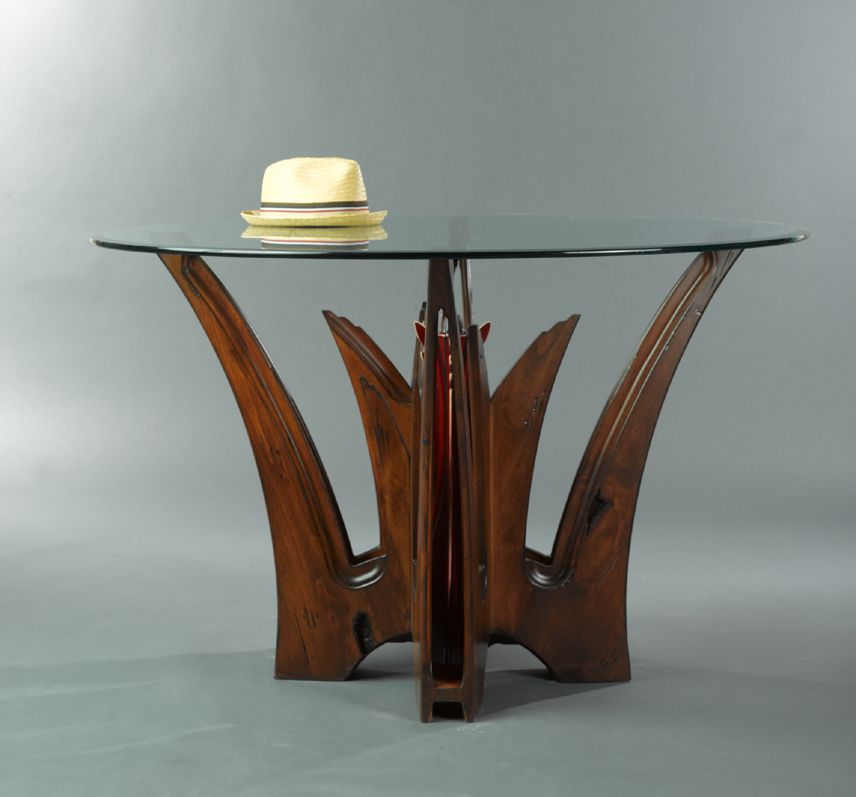 ALOE Transitional Dining Table By Paul Rene Furniture