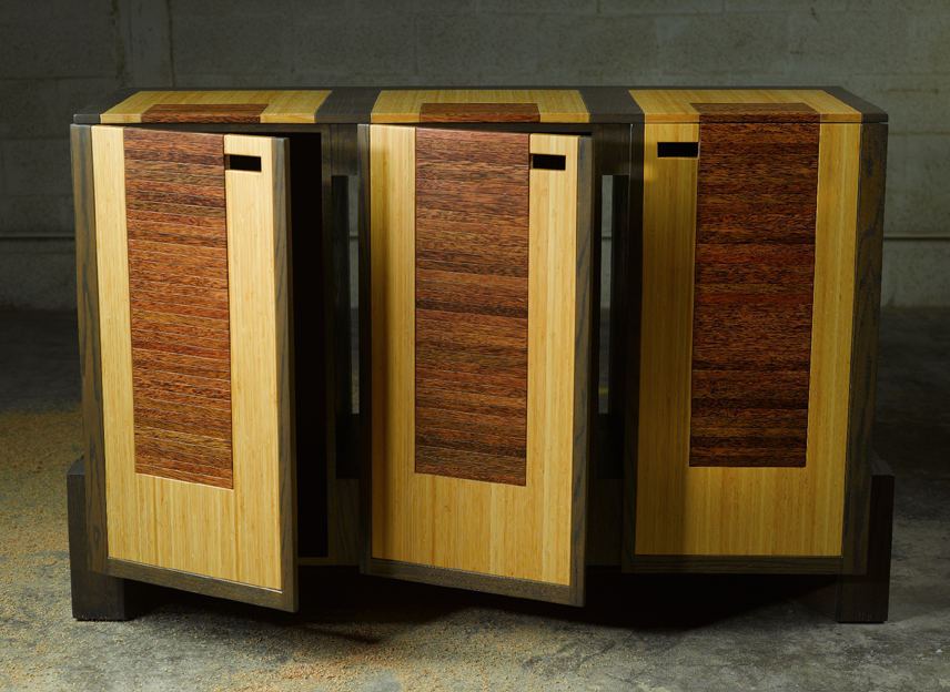 Contemporary Dining Buffet Made From Plyboo Palm Wood And Stained Oak By  Paul Rene Furniture And