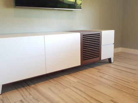 white painted tv console paul rene furniture and cabinets phoenix-scottsdale az