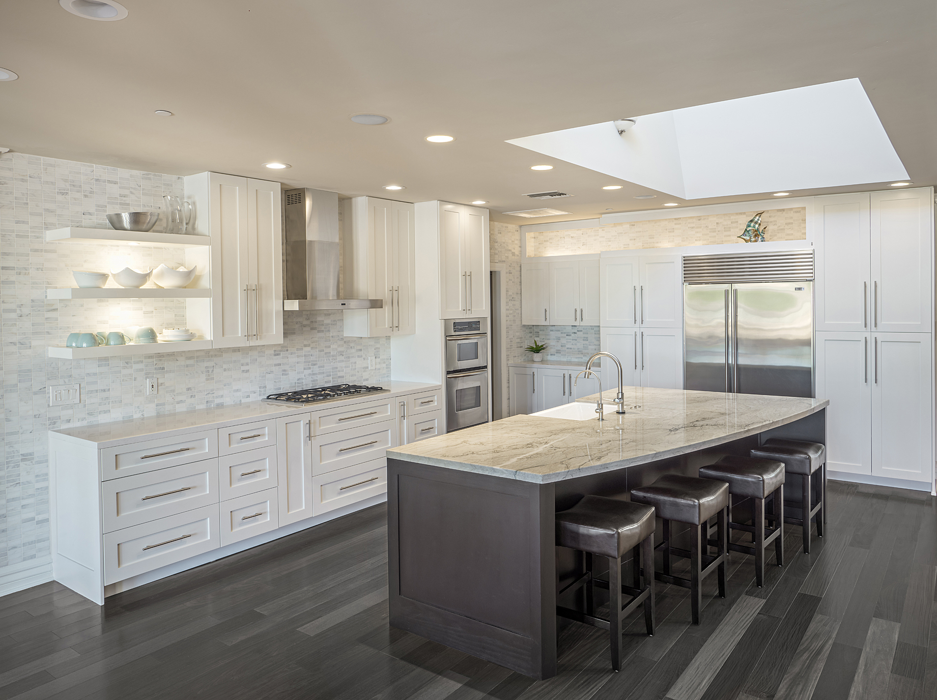 custom white shaker kitchen remodel by paul rene custom furniture and cabinetry phoenix az