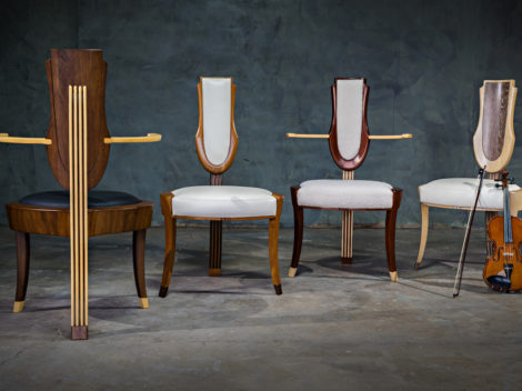 occasional chairs wood upholstered limited production
