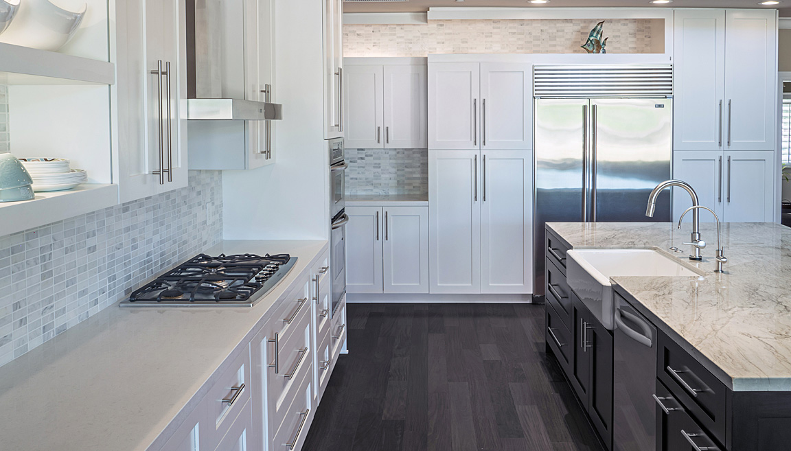 White Shaker Custom Kitchen Cabinets By Paul Rene Furniture And Cabinetry  Scottsdale Az