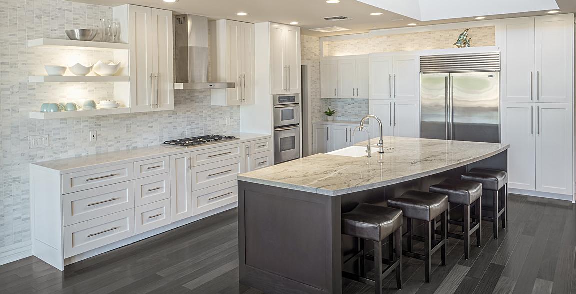 Kitchen Remodeling Custom Cabinets By Paul Rene Curved Island Porceline  Backsplash Honed 1x3. Kitchen Remodeling