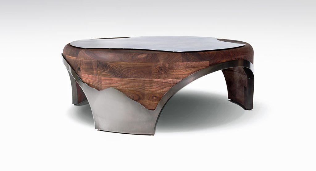 coffee table_modern industrial rustic furniture by paul rene furniture and cabinetry phoenix az