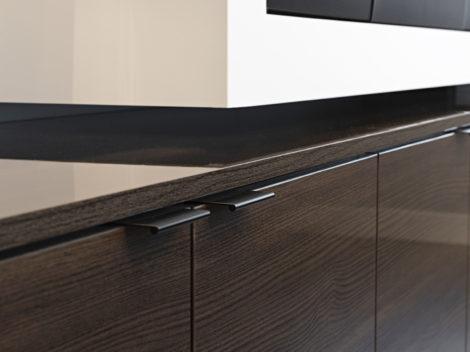 contemparary wall unit with high gloss woodgrain surfaces by paul rene furniture phoenix az