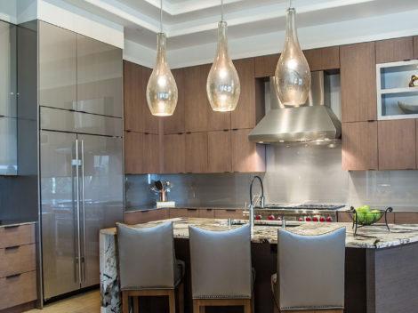 contemporary slab door kitchen remodel by paul rene phoenix2az