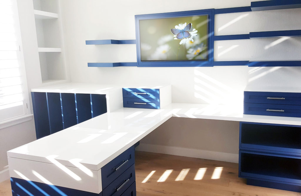 Custom Office Furniture With Mixed Materials By Paul Rene Furniture Phoenix  Az