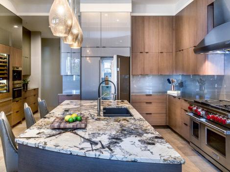 desert modern kitchen remodel with island by Paul Rene Scottsdale AZ2