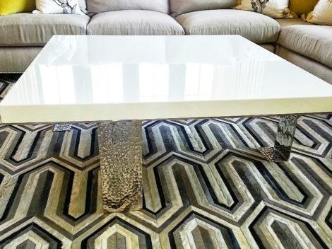 modern high gloss coffee table by paul rene phoenix az