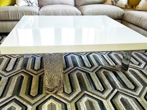 modern high gloss coffee table by paul rene phoenix az